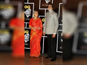 Amitabh Bachchan with his wife Jaya Bachchan attenda the GQ India Men of the Year Awards 2016