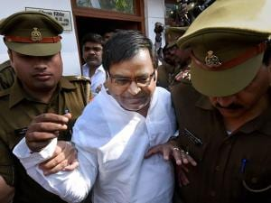UP minister in Samajwadi Party government Gayatri Prajapati arrested by police in Lucknow