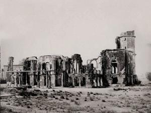 Iconic image of Lucknow's Ruins of Residency taken nearly 150 years ago by British photographers Samuel Bourne and Charles Shepherd currently