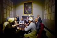 "A tableau of ""Shimla Agreement"" at the Rashtrapati Bhavan Museum in New Delhi"