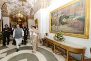 Narendra Modi in the refurbished State Corridor