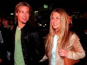 Brad Pitt  and Jennifer Aniston, arrive at the premiere of the new film Erin Brockovich,