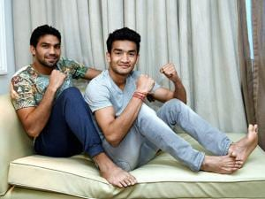 Indian boxers Manoj Kumar and Shiva Thapa