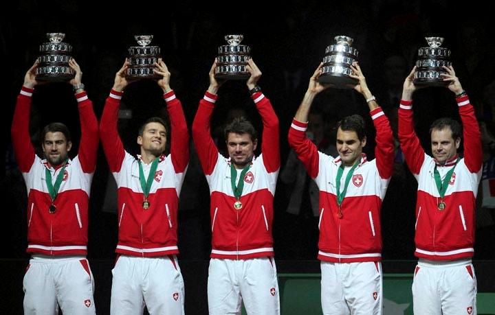 Davis Cup final, davis cup 2014, Roger Federer, Richard Gasquet, Switzerland's first Davis Cup, Stanislas Wawrinka, pair Julien Benneteau, Severin Luthi