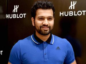 Cricketer Rohit Sharma at a promotional event for Hublot in Bengaluru