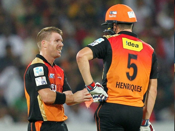 David Warner, Moises Henriques, IPL, IPL Pepsi, Royal Challengers Bangalore, Sunrisers Hyderabad