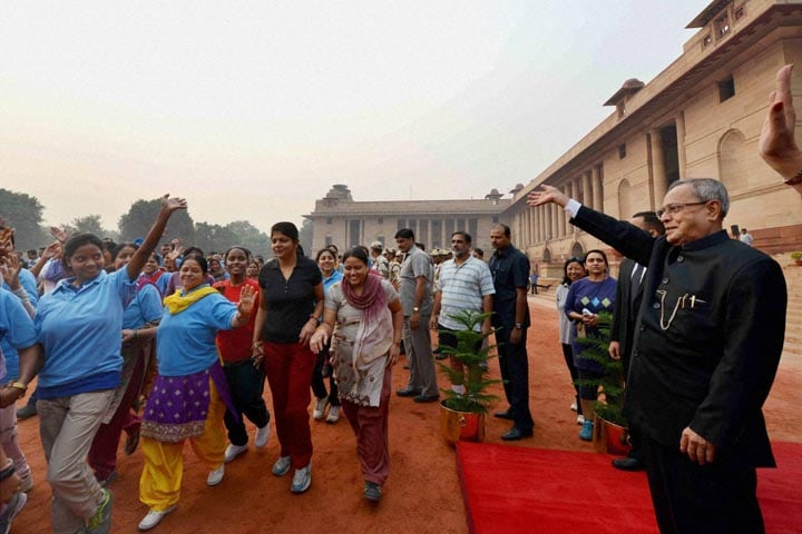President, Pranab Mukherjee, flagging off, 'Run for Unity', occasion, Sardar Vallabhbhai Patel's, birth anniversary, Rashtrapati Bhavan