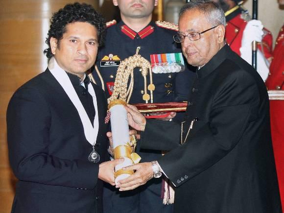 Pranab Mukherjee, Sachin Tendulkar