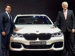 Sachin Tendulkar with president, BMW Group, India Philipp Von Sahr at the launch