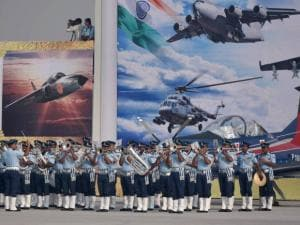 IAF band performs