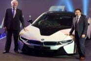 Cricket legend Sachin Tendulkar with Philipp Von Sahr, President, BMW India during the launch of BMW i8 in Mumbai