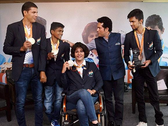 Paralympic, Rio olympic, Devendra Jhajharia, Mariyappan Thangavelu, Deepa Malik, Varun Singh Bhati, Sachin Tendulkar