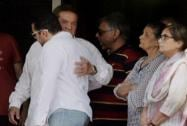 Salman Khan being with his father Salim Khan, mother Salma Khan
