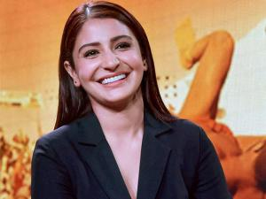 Bollywood actor Anushka Sharma smiles during  the trailer launch of her new film Sultan in Mumbai