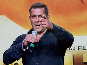 Bollywood actor Salman Khan addresses the media during the trailer launch of his new film Sultan in Mumbai