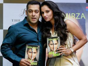Sania Mirza along with actor Salman Khan launches her book 'Ace against Odds' in Mumbai
