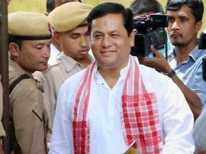 BJP's Chief Ministerial candidate Sarbananda Sonowal after winning Assembly election in Majuli