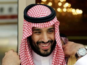 Prince Mohammed bin Salman waits for Gulf Arab leaders