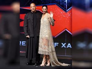 Vin Diesel with actress Deepika Padukone
