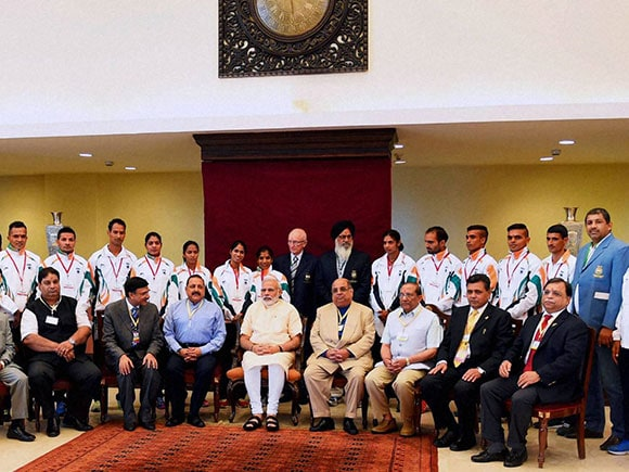 Indian Athletes, Rio Olympic 2016, rio olympic 2016, Narendra Modi, Indian contingent, send-off ceremony, India rio olympic, Yogeshwar Dutt, Babita Kumari, Deepika Kumari, Mary Kom