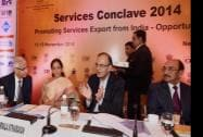 Finance Minister Arun Jaitley speaks at the opening session of Services Conclave 2014
