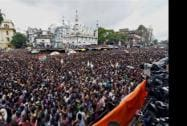 A huge gathering at Trinamool Congress' 'Shahid Diwas' rally in Kolkata