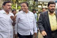 BJP leaders Vinod Tawde and Ashish Shelar, RPI's Ramdas Athawale,