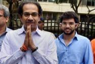 Uddhav Thackeray along with his son Aditya Thackeray
