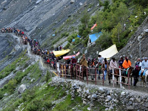 Amarnath Yatra, Lord Shiva, Amarnathji, Yatra, Pilgrims, Rajnath, JK Governor, Vohra, First batch, Second Batch, Third Batch, Himalaya, Shrine, Lingam, Baltal, Jammu, Kashmir