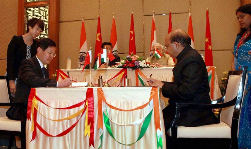 Signing Of Agreements Between India And China Photo Gallery