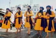 Sikh devotees celebrate the birth anniversary of Guru Nanak Dev in Dibrugarh