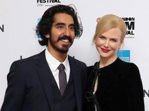 Nicole Kidman and Dev Patel at the premiere of the film 'Lion'