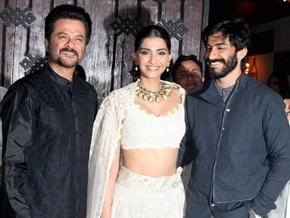 Diwali celebration, Anil Kapoor, Sonam Kapoor, Harshvardhan Kapoor, Celebrity Diwali celebration