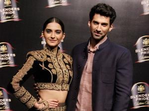 Sonam Kapoor & Aditya Roy Kapoor during the Blenders Pride Fashion Tour 2016