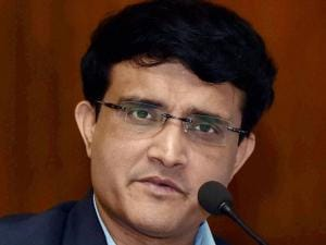 Former India Captain and Cricket Association of Bengal President Sourav Ganguly interact at a press conference to raise fund for Tata Medical Centre's phase 2 expansion of the critical oncology care unit