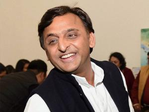UP Akhilesh Yadav at a program at his residence in Lucknow