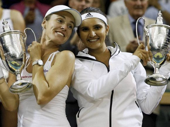 Sania Mirza, India, Martina Hingis, Switzerland, England, Tennis Championship, Wimbledon, London