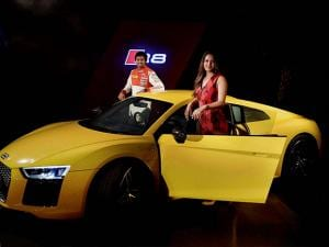 Squash player Deepika Pallikal at the launch of  'Audi R8 V10 Plus' in Chennai