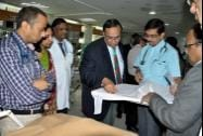 A team of AIIMS doctors arrive to inspect the victims of Chhattisgarh's Sterlisation tragedy
