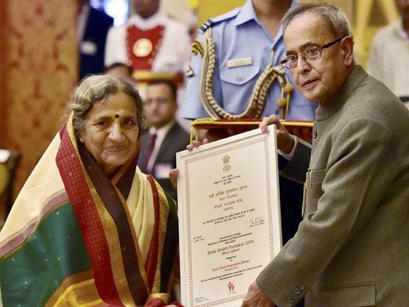 President of India, Pranab Mukherjee,  Chandraprabha Bokey, Nari Shakti Puraskar, Stree Shakti Puraskar, Women's Day, International Women's Day