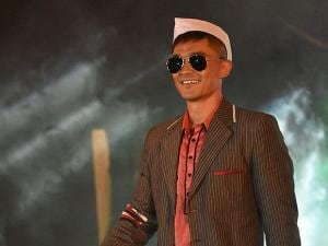 Sunil Chhetri walks the ramp