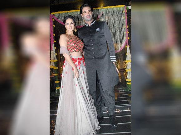 Sunny Leone, Daniel Weber, Aamir Khan, Diwali Party