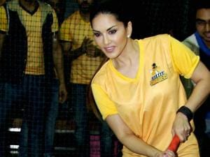 Sunny Leone during the launch of her Box Cricket team 'Chennai Swaggers' in BCL season 2