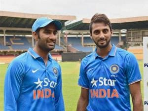 India 'A' players Gurkeerat Singh and Sreenath Aravind