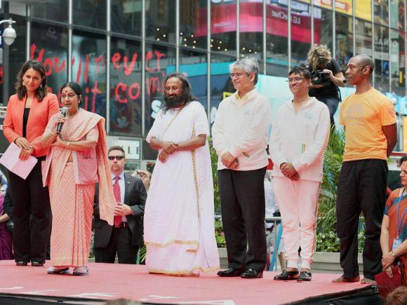 Sushma Swaraj, Foreign Minister of india, New York, Yoga, World Yoga Day