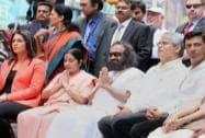 Sushma Swaraj, Sri Sri Ravishankar, Congresswoman Tulsi Gabbard,