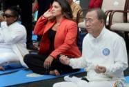 UN Secretary General Ban Ki-moon and US Congresswoman Tulsi Gabbar