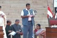 Nitin Gadkari takes oath