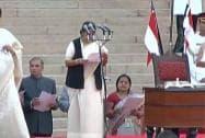 Sushma Swaraj takes oath