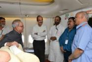 President, Pranab Mukherjee with MP's Ghulam Nabi Azad, Ashwini Kumar Chopra